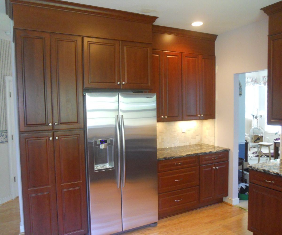 2018 maple kitchen pantry cabinet small kitchen renovation ideas rh pinterest com Tall Pantry Cabinets 18X84 Pantry Cabinet