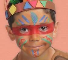 exemple maquillage indien enfant farwest pinterest sioux. Black Bedroom Furniture Sets. Home Design Ideas