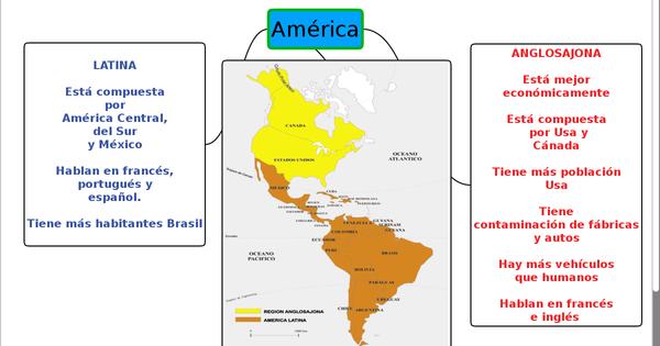Cuadros Comparativos Entre América Latina Y America Anglosajona Cuadro Comparativo Mapa De America Latina Anglosajones América Latina