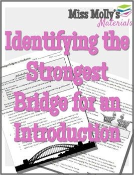 Identifying the Strongest Bridge for an Introduction - No ...