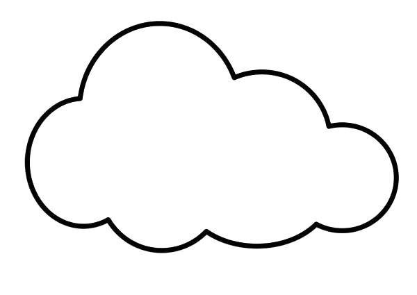 Resultado De Imagen Para Imagenes De Nubes Para Colorear Nubes