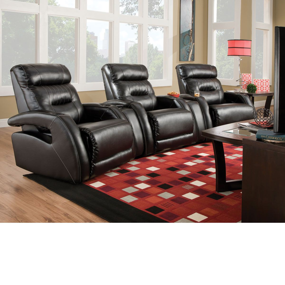 The dump furniture power recliner home theater