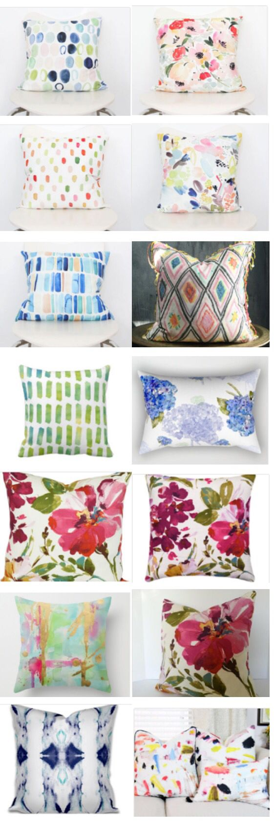 Watercolor hand painted pillows. An etsy favorite find | Costura ...