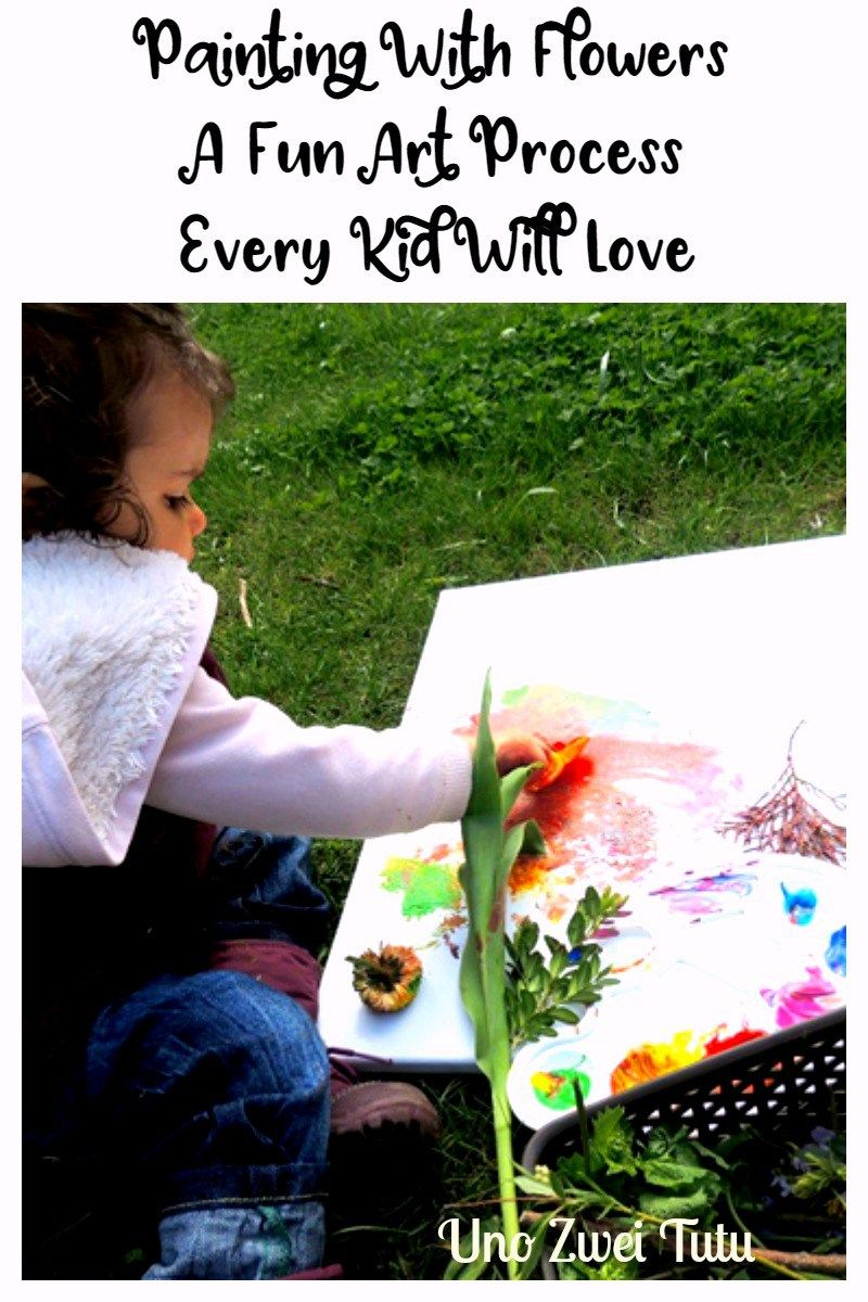 addebdbdf Looking for a fun process art project to make this spring or summer?  Painting with flowers is a great way to get in touch with nature.