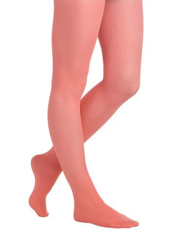 Look Lively Tights in Coral - July 10, 2013
