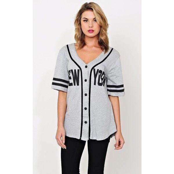 New York Baseball Jersey ($22) ❤ liked on Polyvore