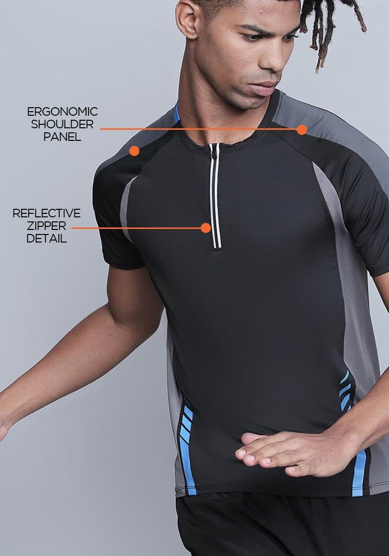 69ae53c0f8c RUSH MESH BACK ZIPPERED ACTIVEWEAR T-SHIRT BY PROWL ₹1,799.00 ...