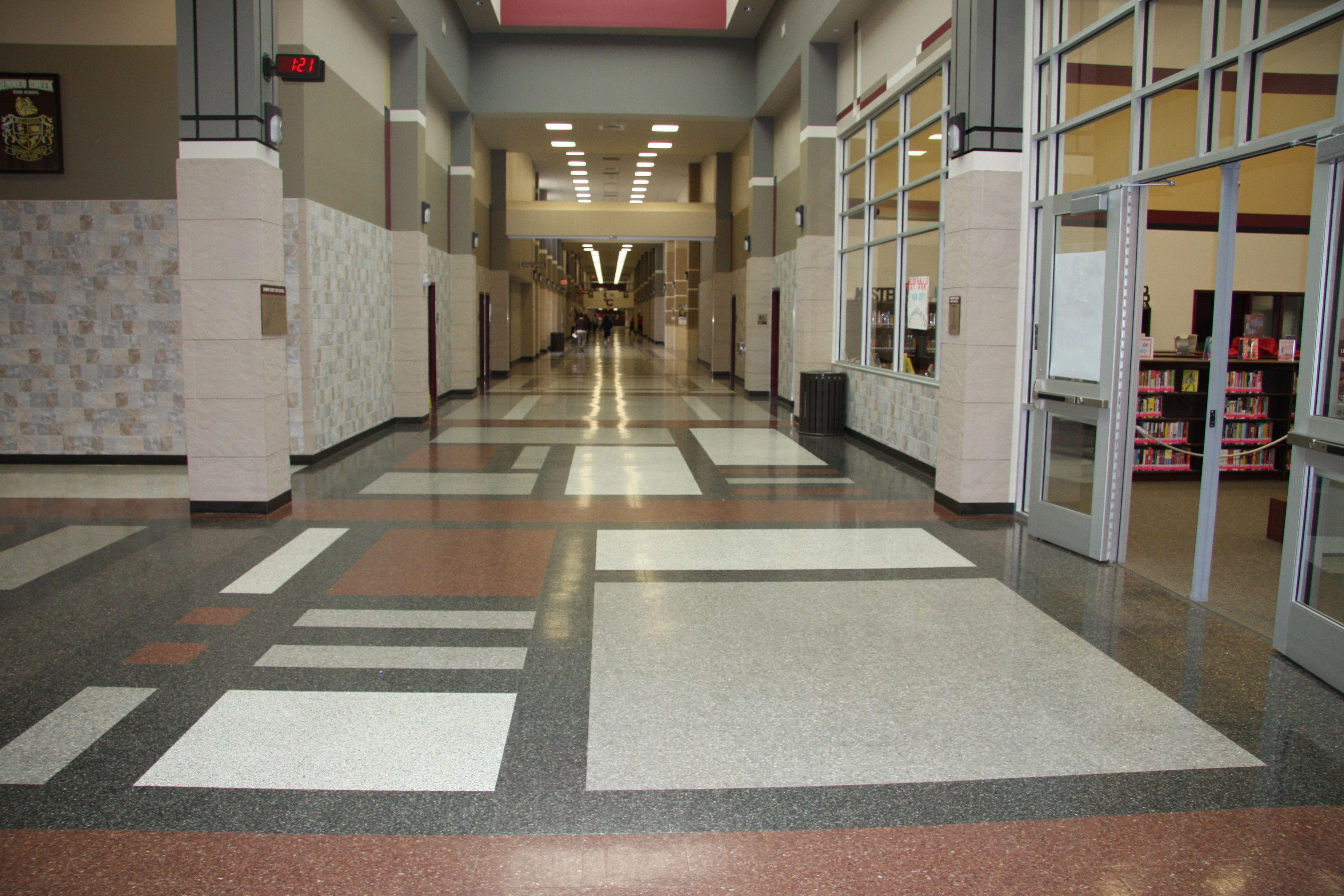 Terrazzo Flooring Design : Custom patterns with fritztile terrazzo tile flooring
