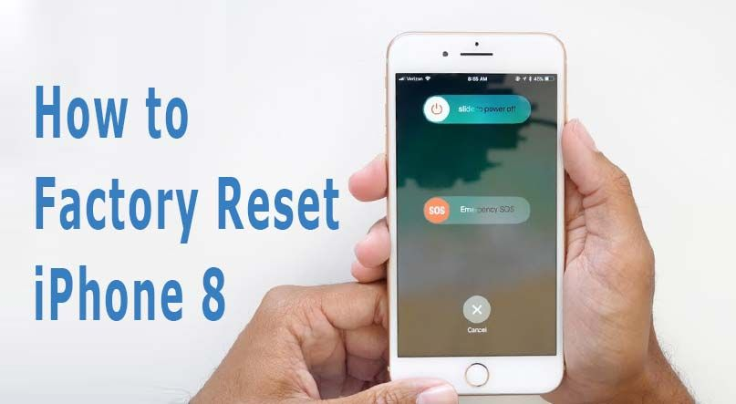How To Factory Reset Iphone 8 And Back To Default Settings Iphone Tutorial Iphone Iphone 8