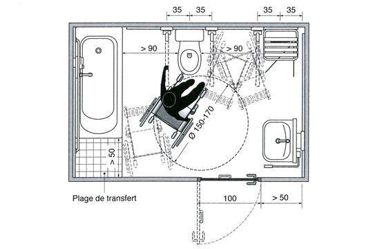 Exemple d\u0027aménagement  salle de bains avec WC et lavabo 2/2 HOME - logiciel plan de maison gratuit