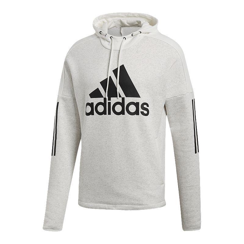 adidas herren sports id logo full zip fleece kapuzen-sweatshirt