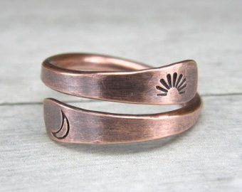 Paw Print Copper Ring, Dog Paw Copper Ring, Stamped Copper Wire Ring ...