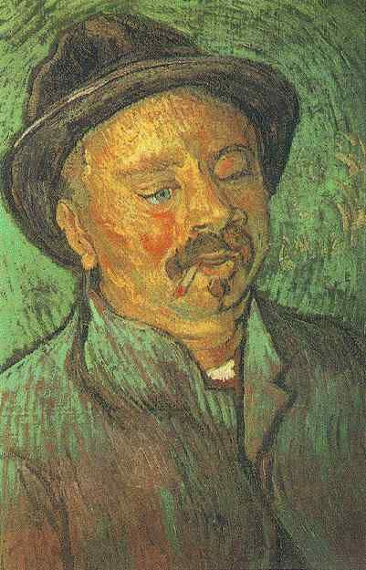 Portrait of a One-Eyed Man Oil on canvas 56.0 x 36.5 cm. Arles: December, 1888 F 532, JH 1650