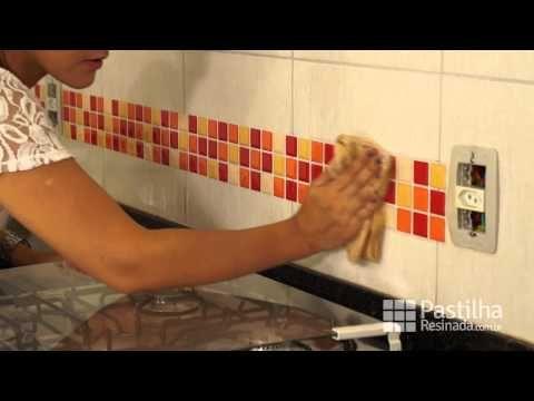 Como colar Pastilhas Adesivas - PastilhaResinada.com.br - YouTube
