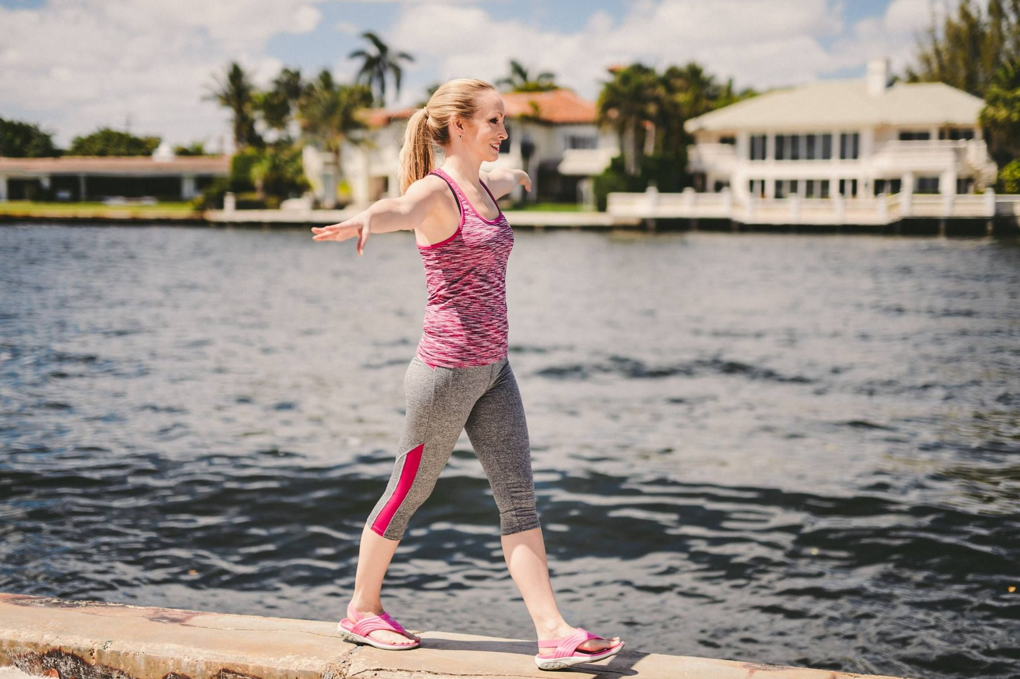 Get outside today! How do you stay active during the summer? Stay cool with the Summer Slingback Sport Sandal.