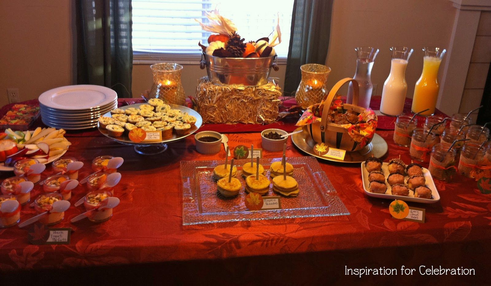 Church banquet ideas the spread for the food i wanted Brunch table decorations