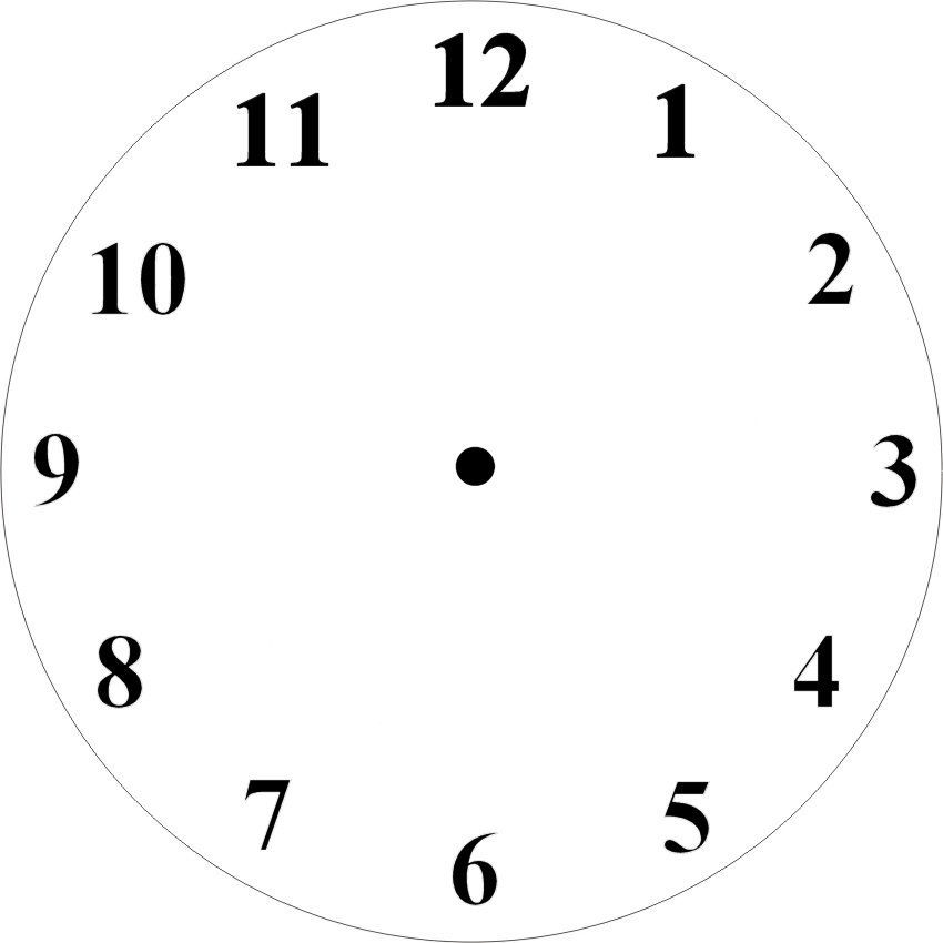 Clock face template I made | Paper Craft Templates By Pam ...