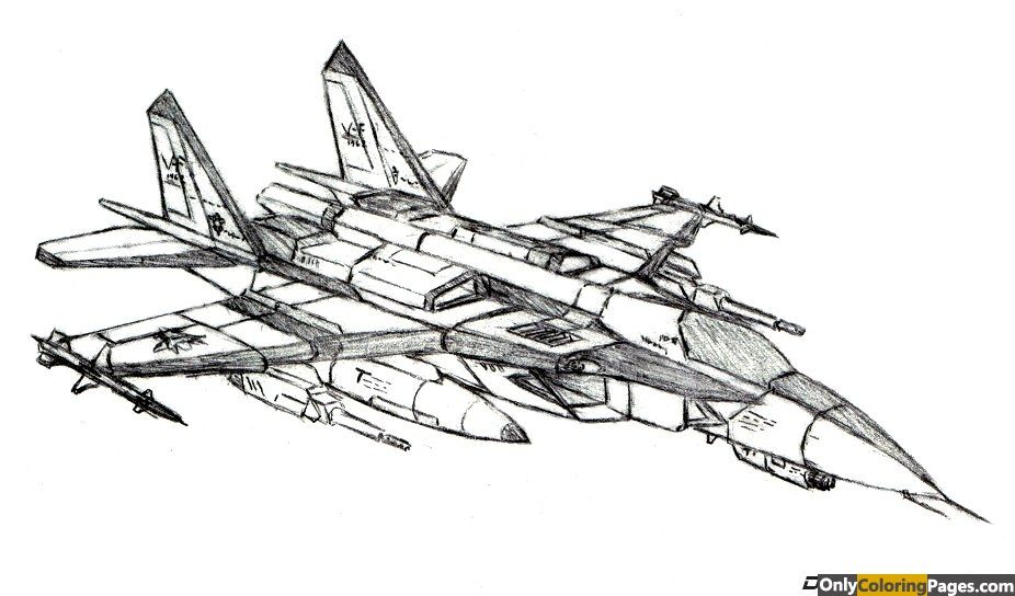 Fighter Jet Coloring Pages Only Coloring Pages Airplane