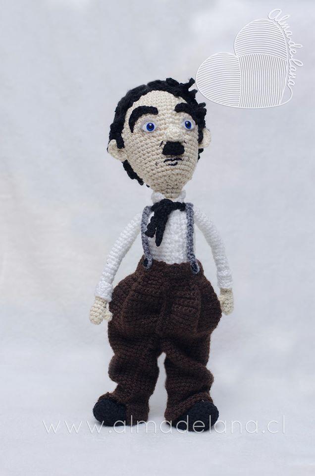 Charles Chaplin, creación propia sin patrón   Amigurumis de personas ...