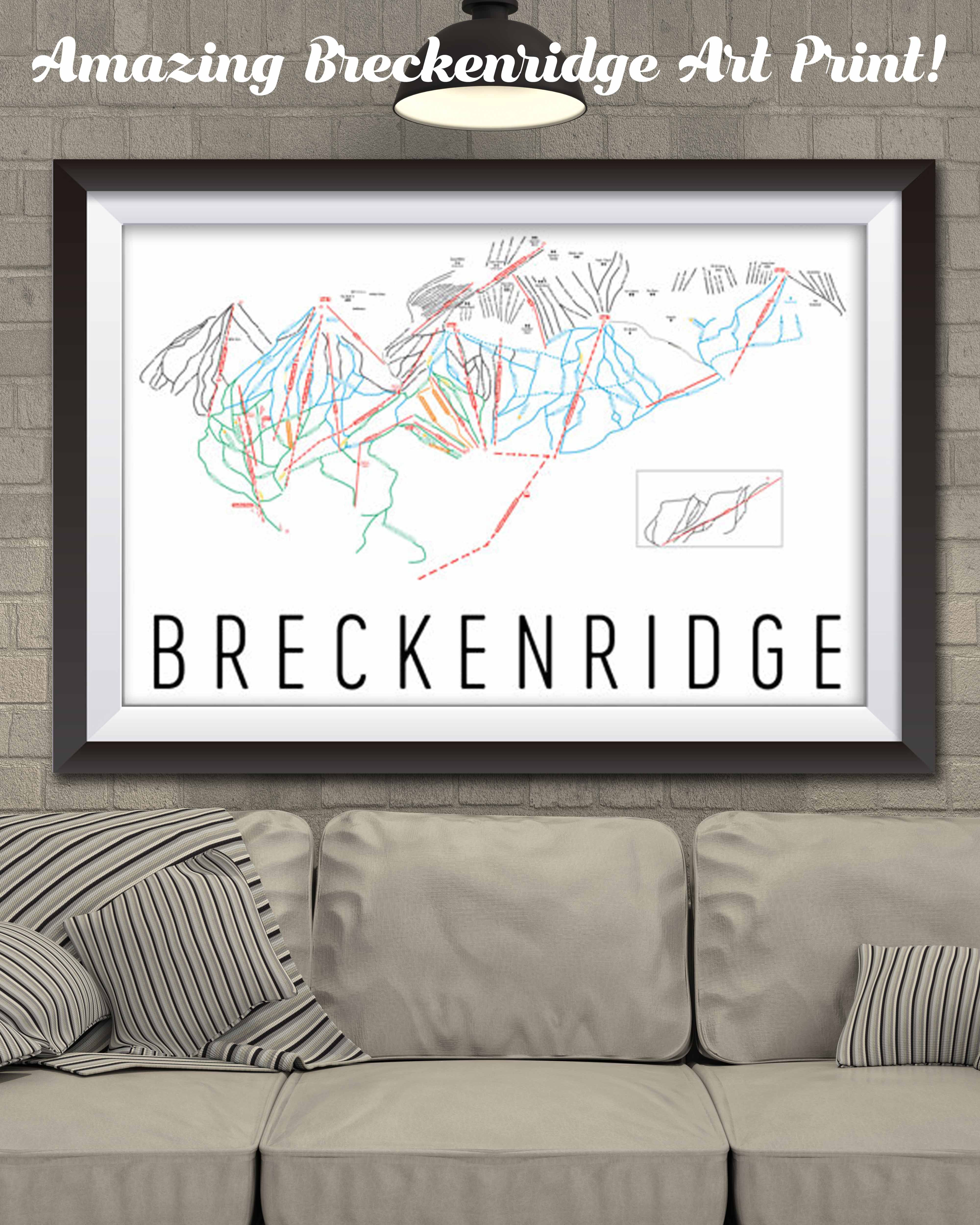 Breckenridge Ski Map Art, Breckenridge Colorado, Breckenridge Trail on map of all colorado golf courses, map of all colorado counties, map of buttermilk ski area, map of all colorado cities and towns, map of beaver creek ski resort trail,