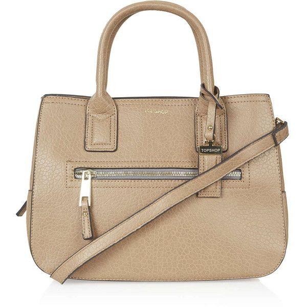 TOPSHOP Zip Front PU Bag (230 BRL) ❤ liked on Polyvore featuring bags, handbags, shoulder bags, tan, polyurethane handbags, zipper handbag, tan shoulder bag, pu handbag and topshop