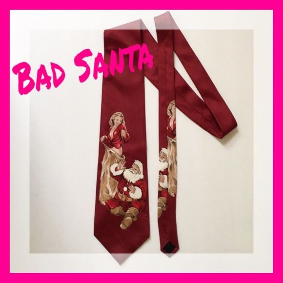 Bad Santa Tie  100% Imported Silk. Accessories