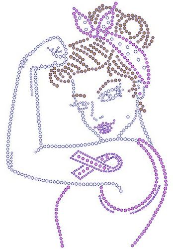 Rosie Cancer Ribbon Rhinestone Transfer | crafts | Pinterest ...