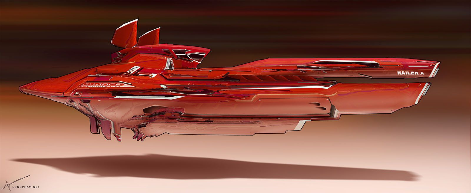 Racer ship - Red, Long Pham on ArtStation at http://www.artstation.com/artwork/racer-ship-red