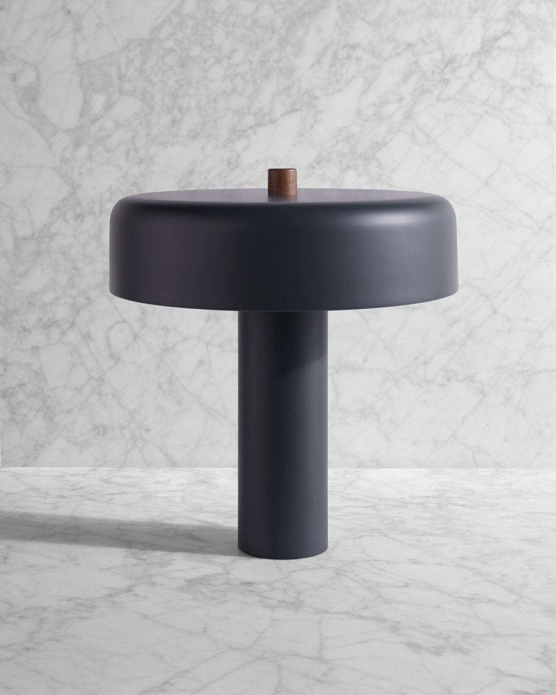 Black Metal Bedside Tables: BlueDot Punk Table Lamp In Black. $300.