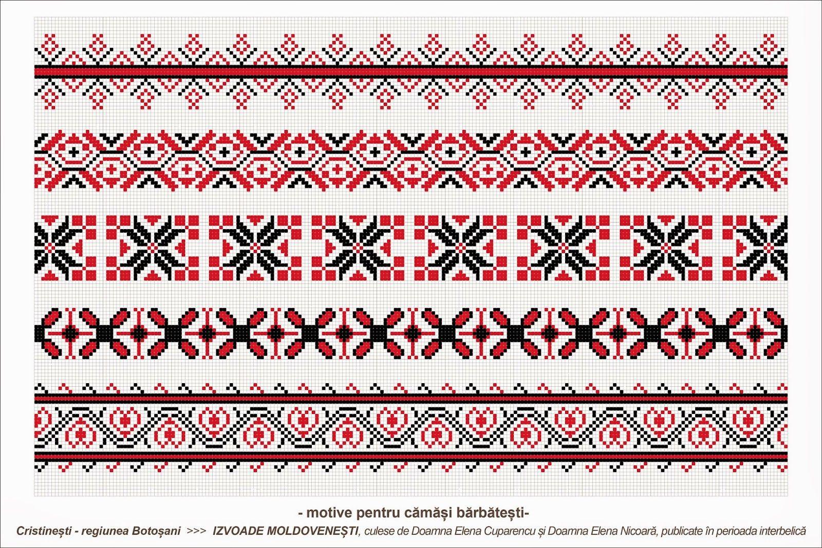 Semne cusute romanian traditional motifs moldova botosani cristinesti semne populare - Beautiful romanian folk motifs ...