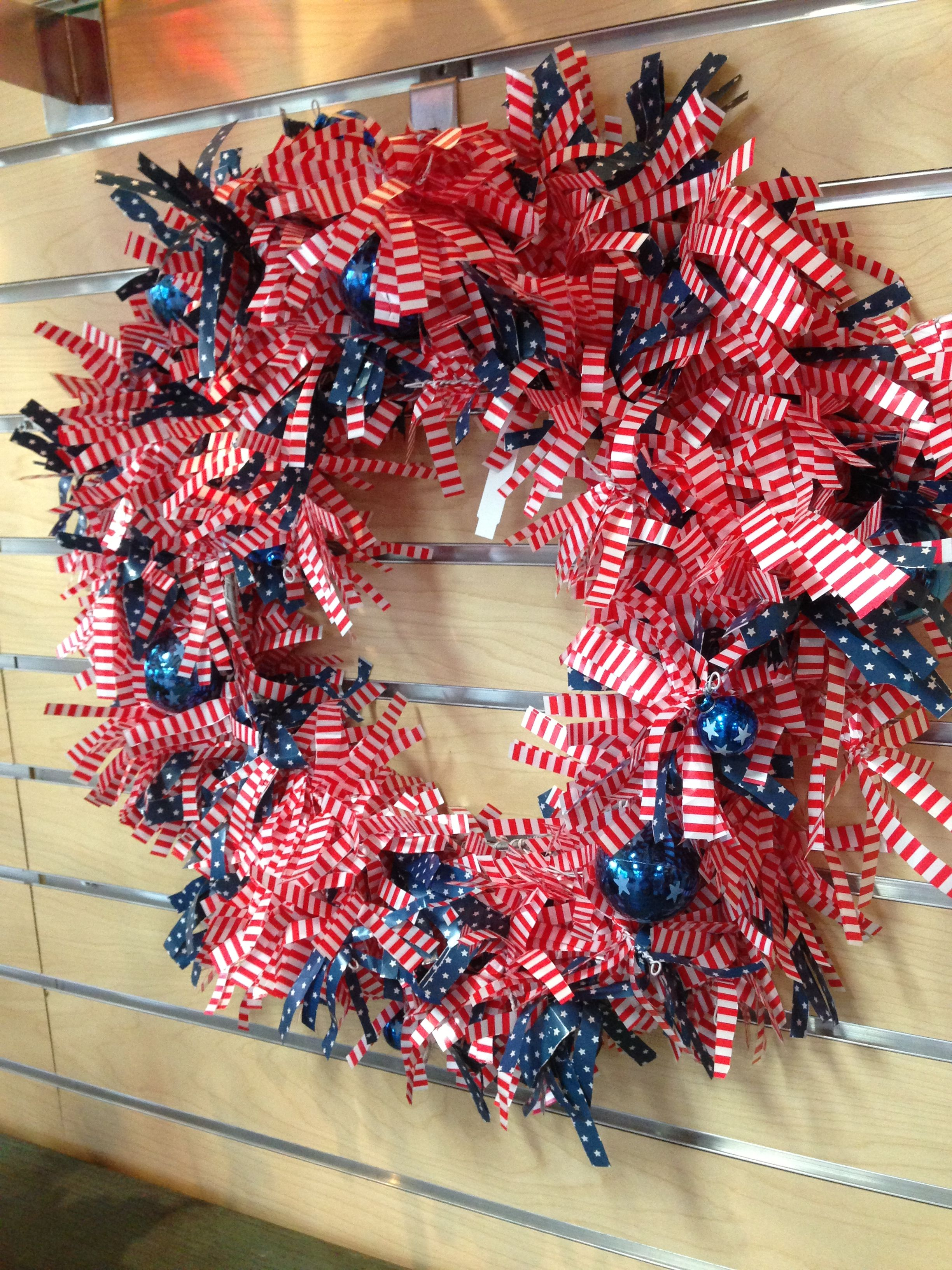 4th of July wreath, weather proof too