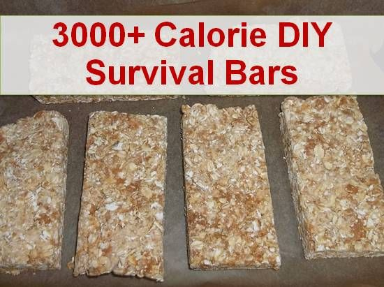 How to Make 3000+ Calorie DIY Survival Food Ration Bars