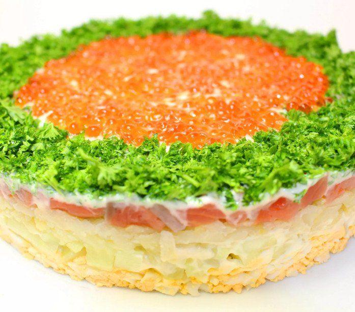 мне удалось салат из красной рыбы рецепт с фото можете положить