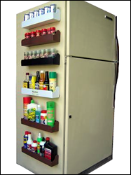 magnarack is a powerful magnetic storage shelf this would be great rh pinterest com shelves for fridge shelves for fridge