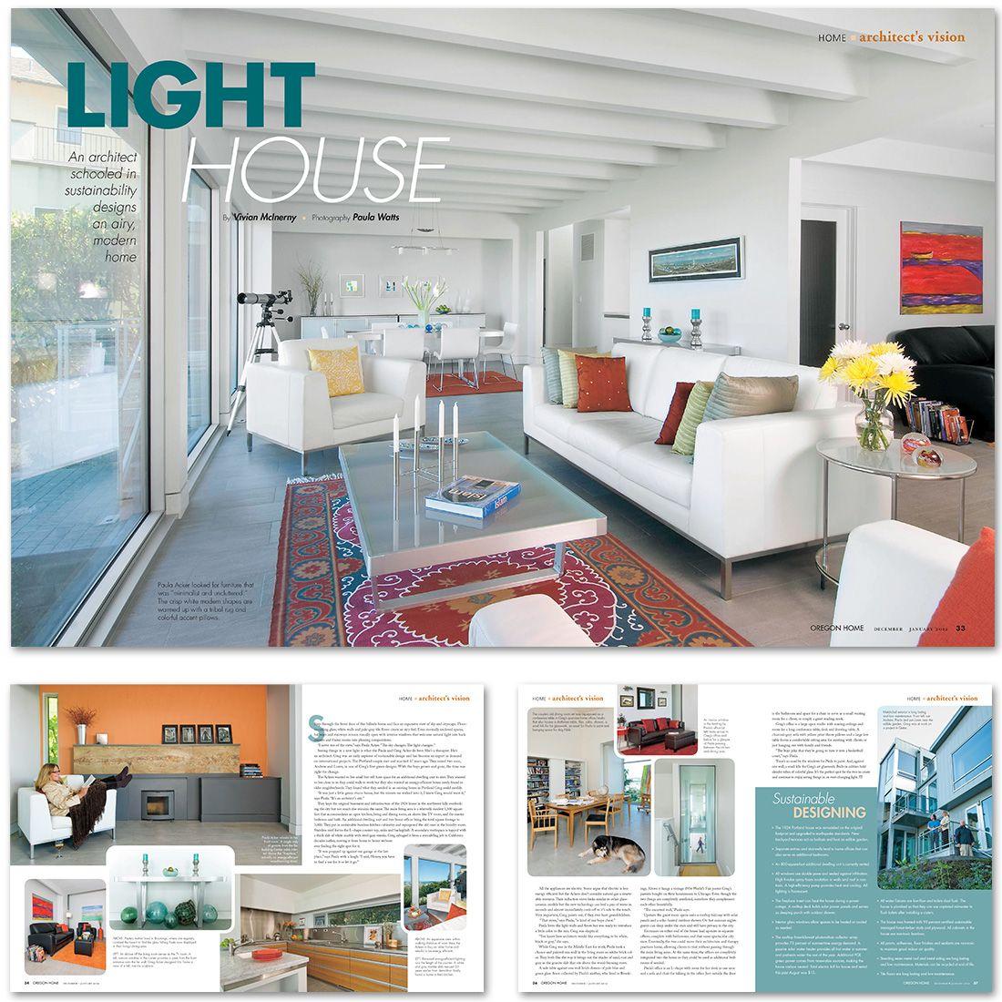 LAYOUT DESIGN, OREGON HOME MAGAZINE, DEC/JAN 2012 (Jon Taylor ...