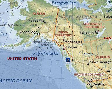 Map Of Washington And Alaska Waters Of Southeast Alaska