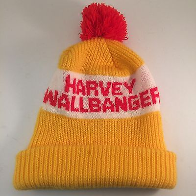 Vintage Harvey Wallbanger Promo Knit Winter Hat Toque PomPom Cap  Ski Snowboard