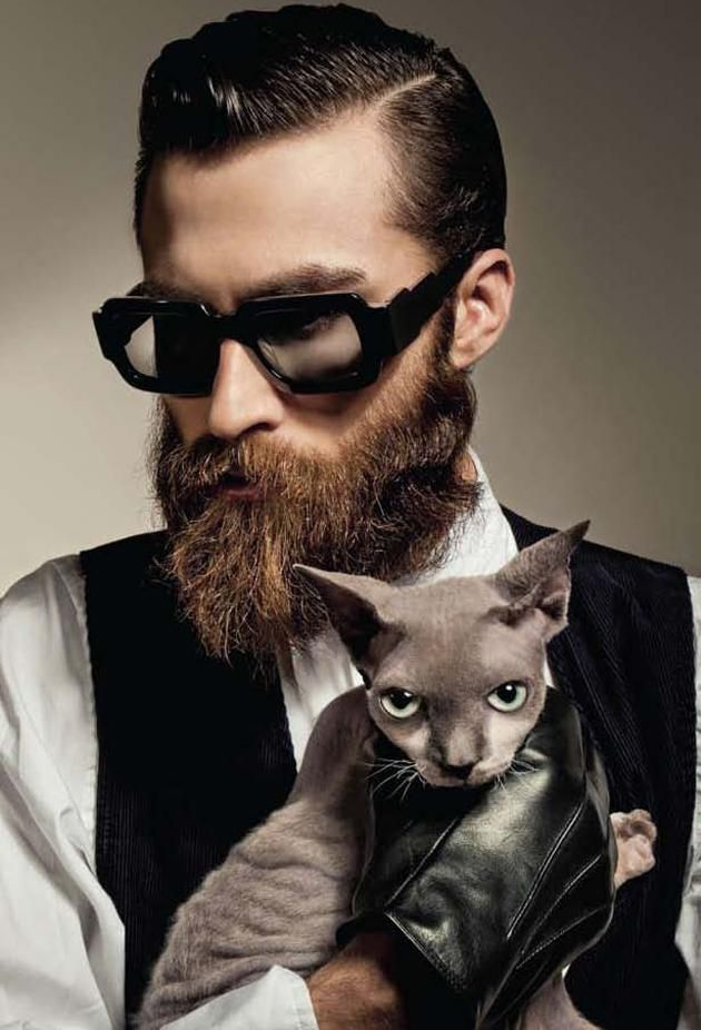 cool eyewear  45 Hot Beard Styles For Men to try This Year: 2016