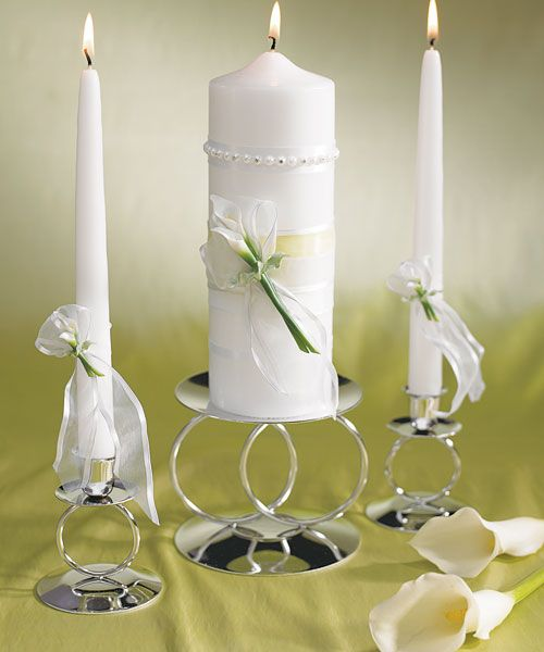 bridal beauty calla lily unity pillar candle