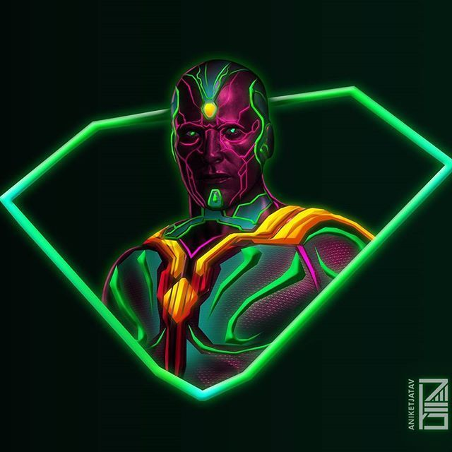 Vision Neon Wallpaper Credit At Aniketjatav On Instagram