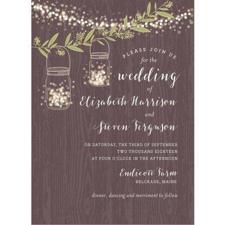 Twinkling Jars Standard Wedding Invitation Walmart Com Backyard Wedding Invitations Wedding Invitations Invitations