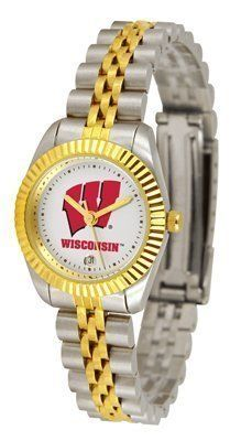 Wisconsin Badgers Suntime Ladies Executive Watch - NCAA College Athletics by Sun Time/Links Warner. $139.95. Stainless Steel Case. Two-Tone Solid Stainless Steel Band. Calendar Date Function. 23kt Gold Plate Bezel. Safety Clasp. A timepiece as classic as the game itself. Our Executive timepieces offer a more formal look, with Colorado State Rams team logo on the watch face and is beautifully represented with raised 23-kt gold and is accented by a fluted gold-toned bezel. F...