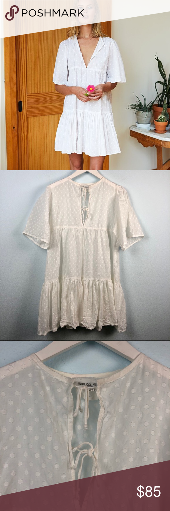 Emerson Fry white Swiss dot Isla dress Emerson Fry India Collection white Swiss dot short sleeve mini dress. Slightly sheer, light and breezy fit. Two front neckline ties. 100% cotton. In excellent condition. Still being sold online for full price. Emerson Fry Dresses Mini #emersonfry Emerson Fry white Swiss dot Isla dress Emerson Fry India Collection white Swiss dot short sleeve mini dress. Slightly sheer, light and breezy fit. Two front neckline ties. 100% cotton. In excellent condition. Still #emersonfry
