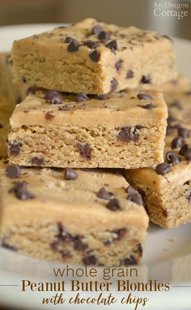 You will love this moist and chewy blondies recipe flavored with peanut butter and chocolate chips.