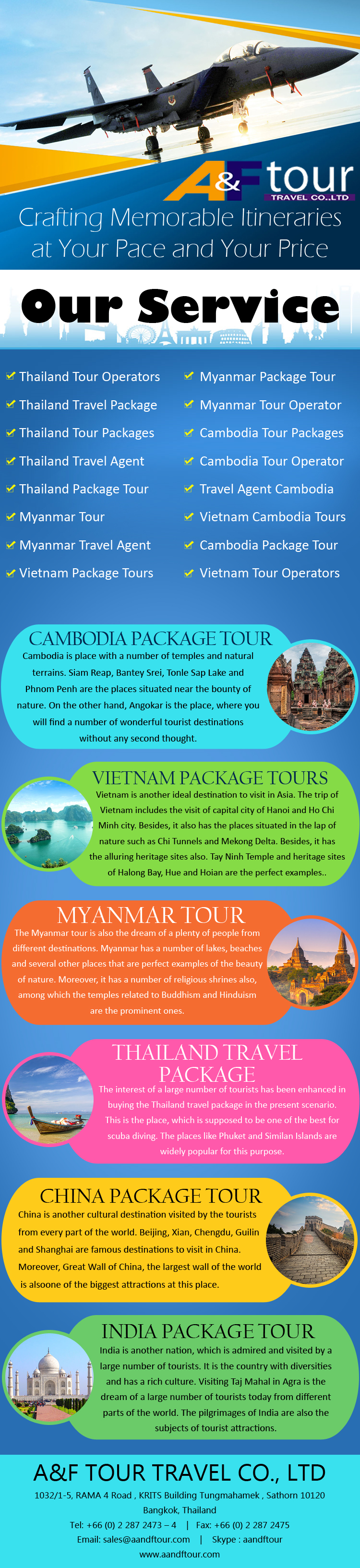 AF Is A Tour And Travel Agency In Bangkok Offering Affordable - Vacation tour and travel