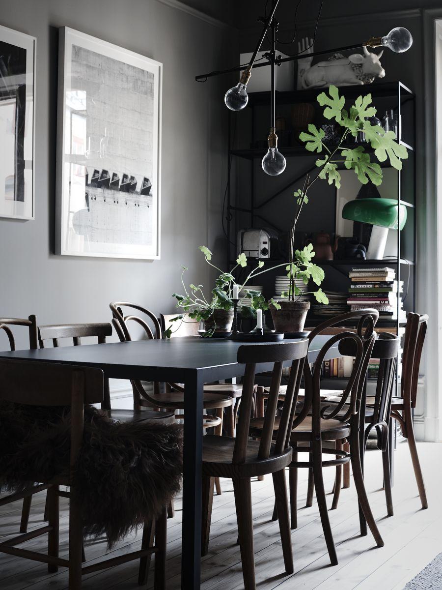 Scandinavian Style Dining Room Furniture: Darker Side Of Scandinavian Style (Decordots)