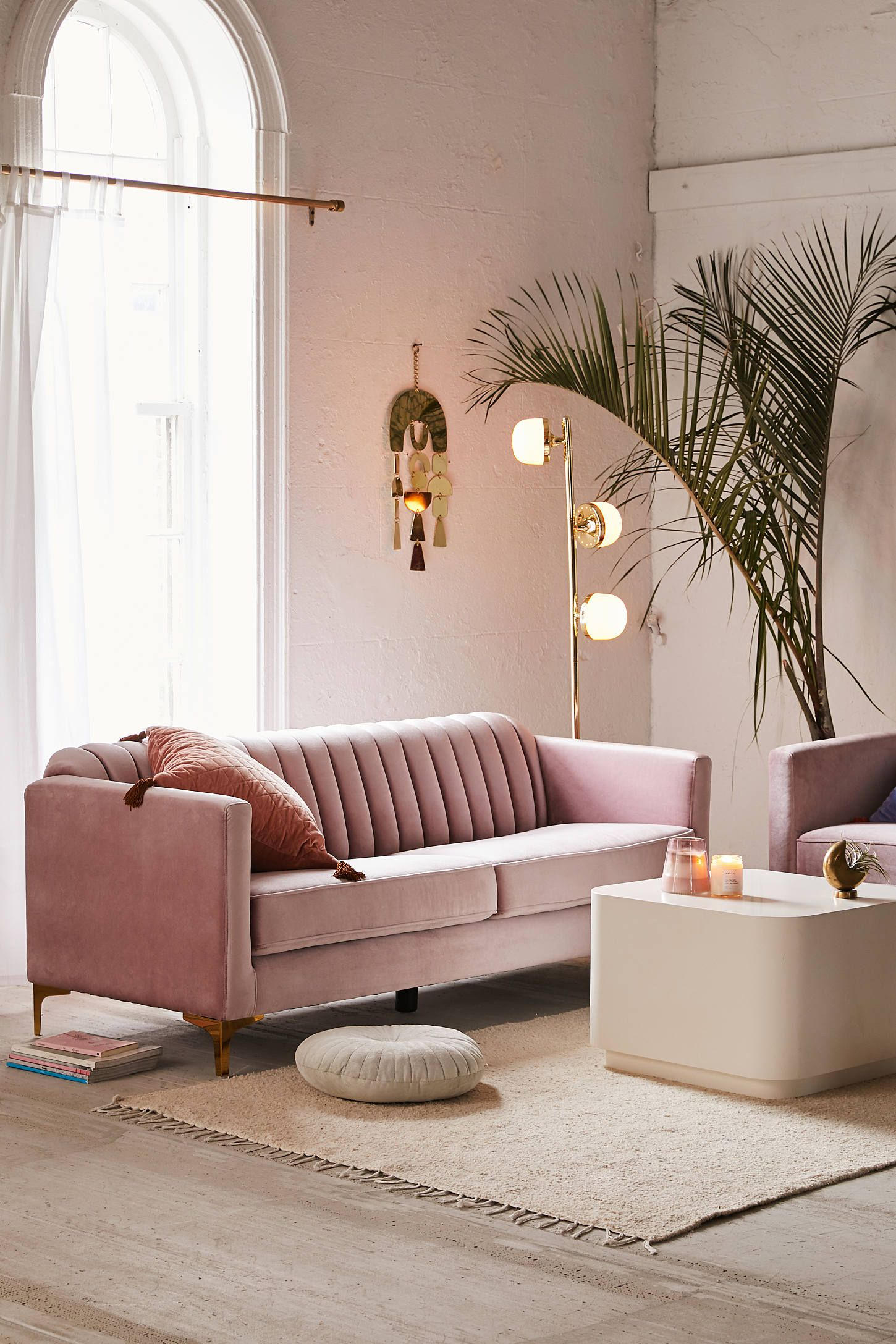 Marcella Velvet Sofa Sofas For Small Spaces Couches For Small Spaces Minimalist Furniture
