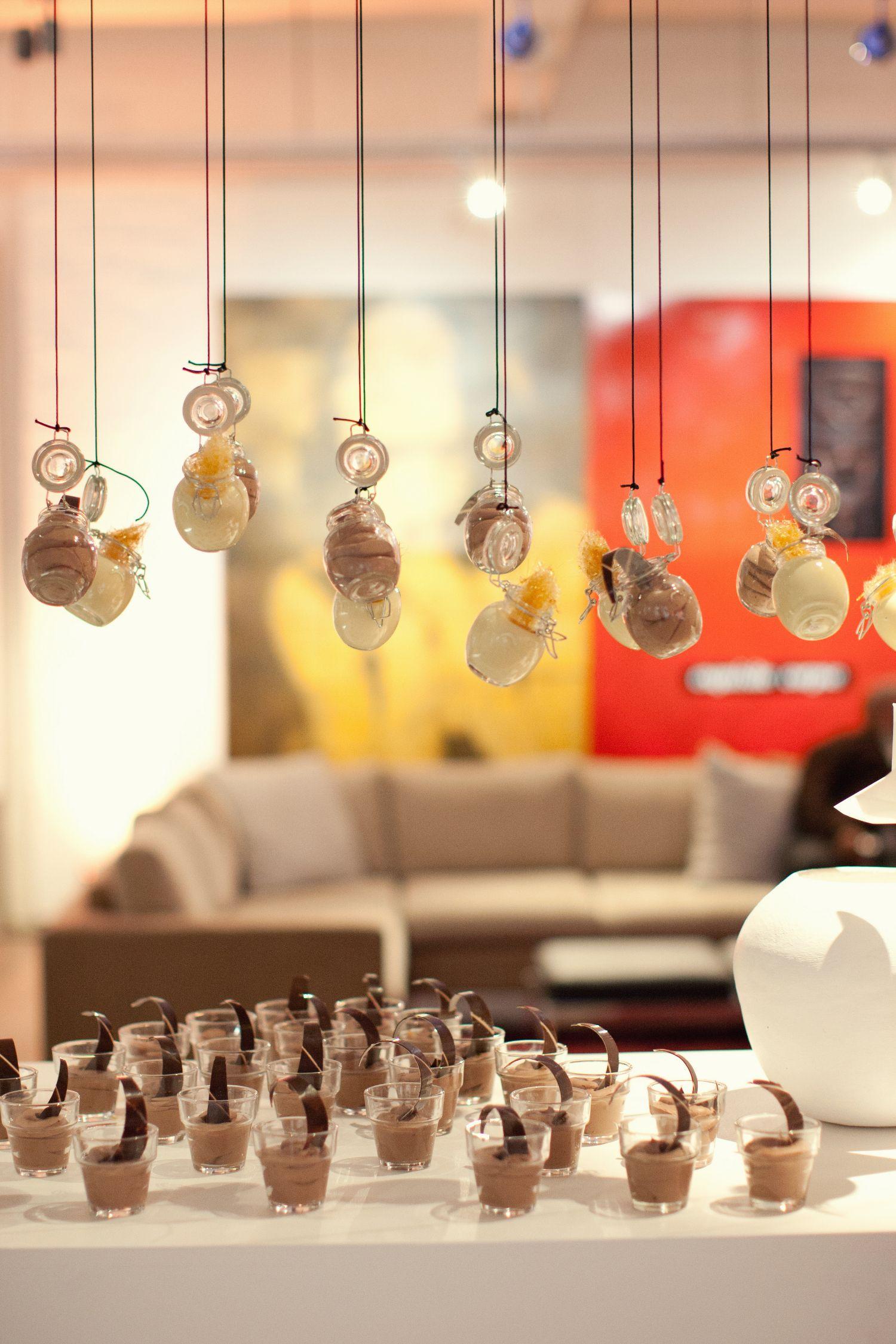 dessert installation, hanging desserts, international