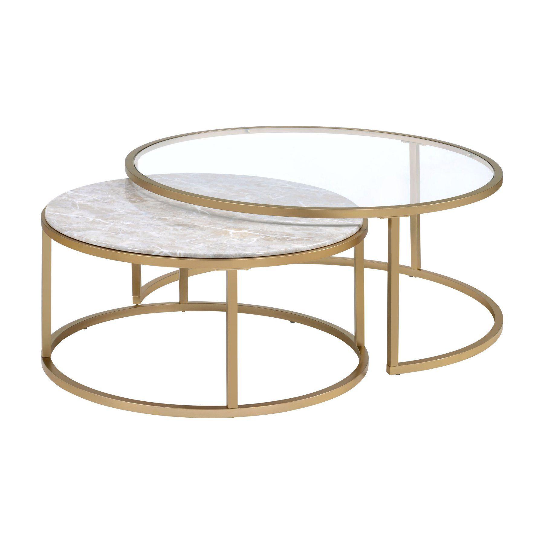 Acme Furniture Shanish 2 Piece Nesting Coffee Table Set Nesting Coffee Tables Coffee Table Gold Nesting Coffee Table [ 1800 x 1800 Pixel ]