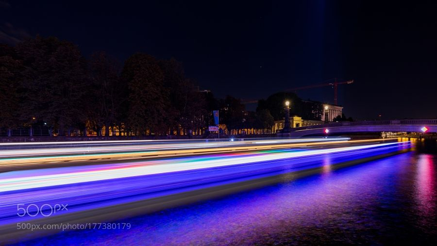 Berlin at night by OliverPaaparazzo